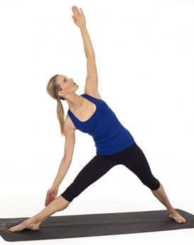 posizione yoga triangolo variazioni