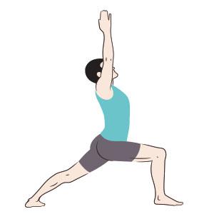 Risultati immagini per posizione del guerriero yoga