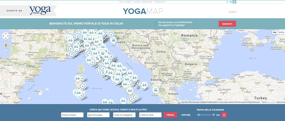 mappa corsi yoga italia
