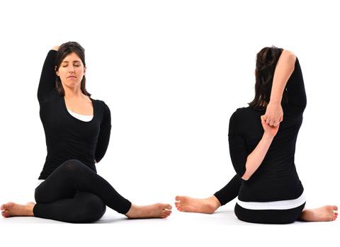 posizione yoga per cervicalgia