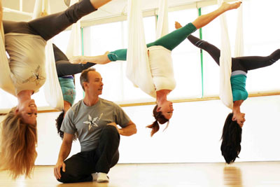 Christopher Harrison antigravity yoga