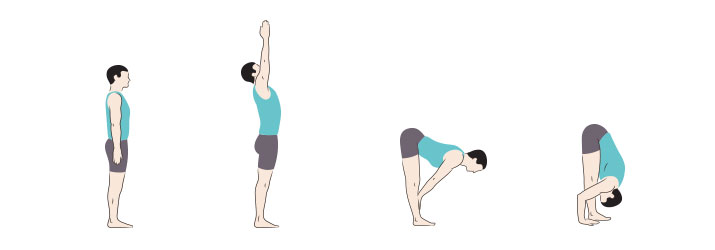 come fare uttanasana