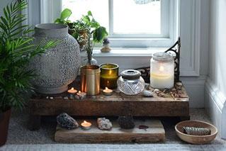 creare uno spazio sacro a casa