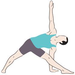 Trikonasana posizioni base yoga