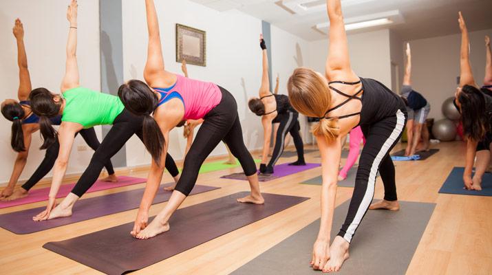 tipica classe di yoga