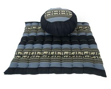 Set da Meditazione cuscino zafu e materassino zabuton kapok