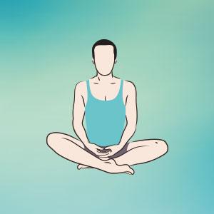 come fare la respirazione addominale in sukhasana