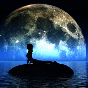 saluto alla luna per stanchezza