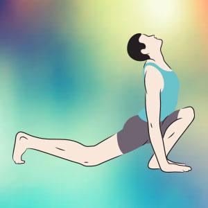 Stretching psoas