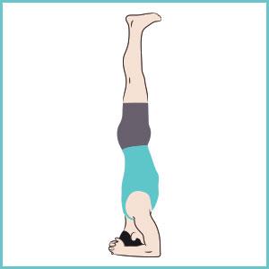 posizione equilibrio testa per combattere la paura