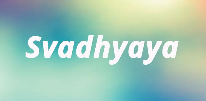 Svadhyaya studio di se stessi