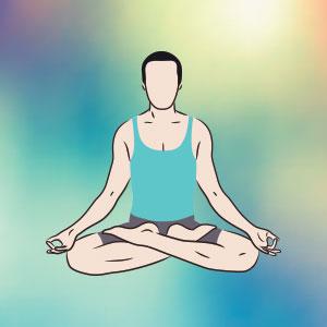 Posizione del loto per meditazione