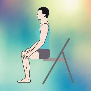 Posizione per meditare sulla sedia