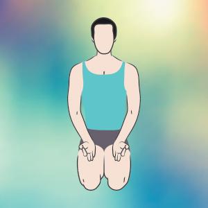 Vajrasana per fare meditazione