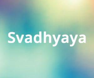 Svadhyaya conoscenza di se