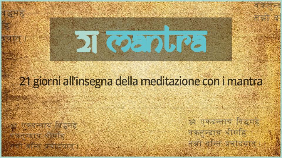 21 mantra meditazione