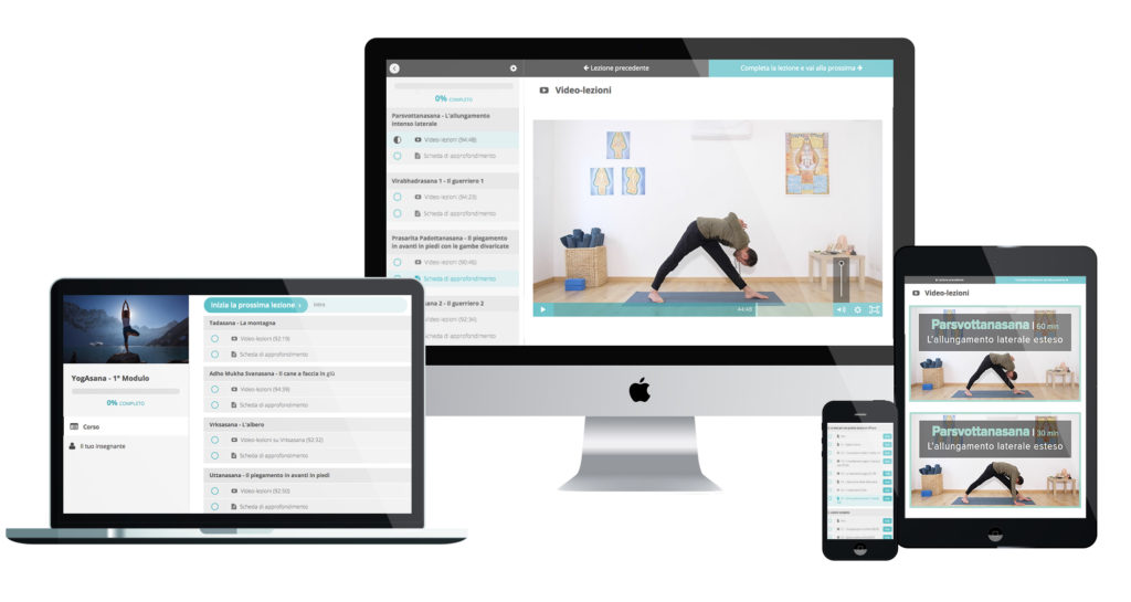 Yogasana corso online asana posizioni yoga