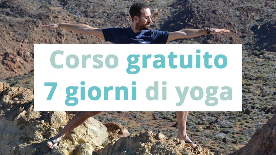 Corso gratuito 7 giorni di yoga