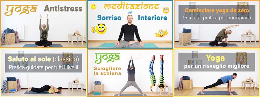 Lezioni corso gratuito yoga online