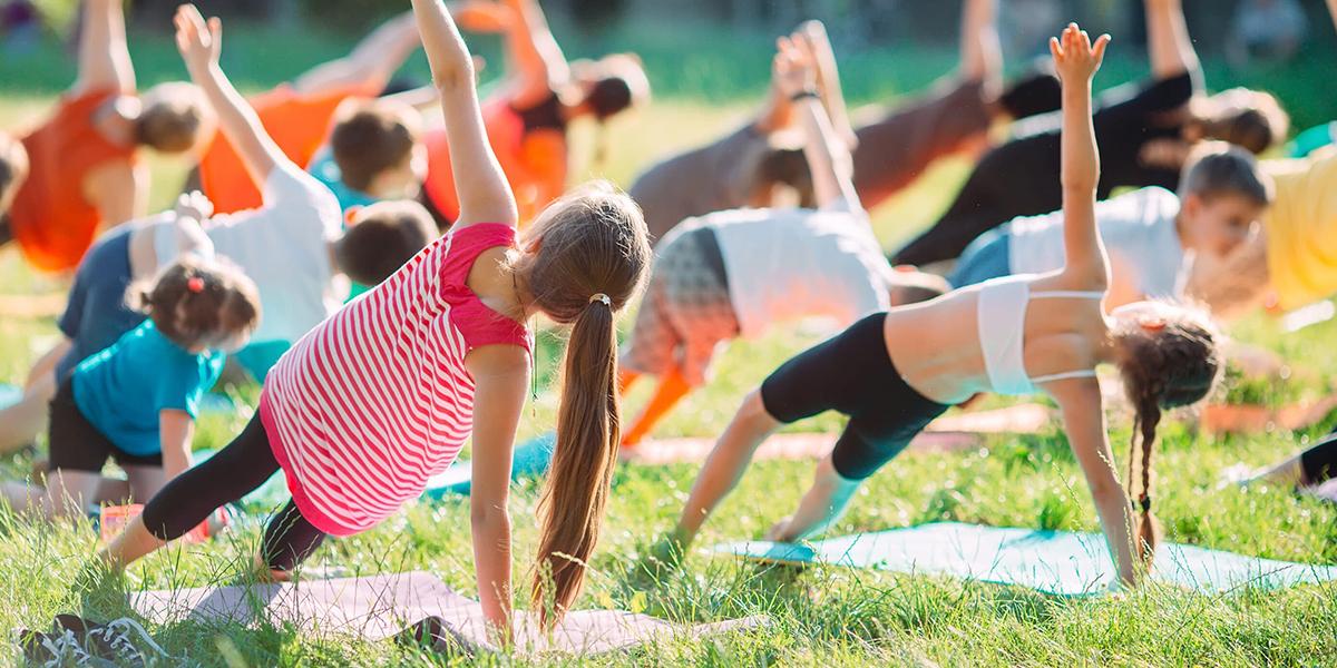 Diffusione yoga per i bambini