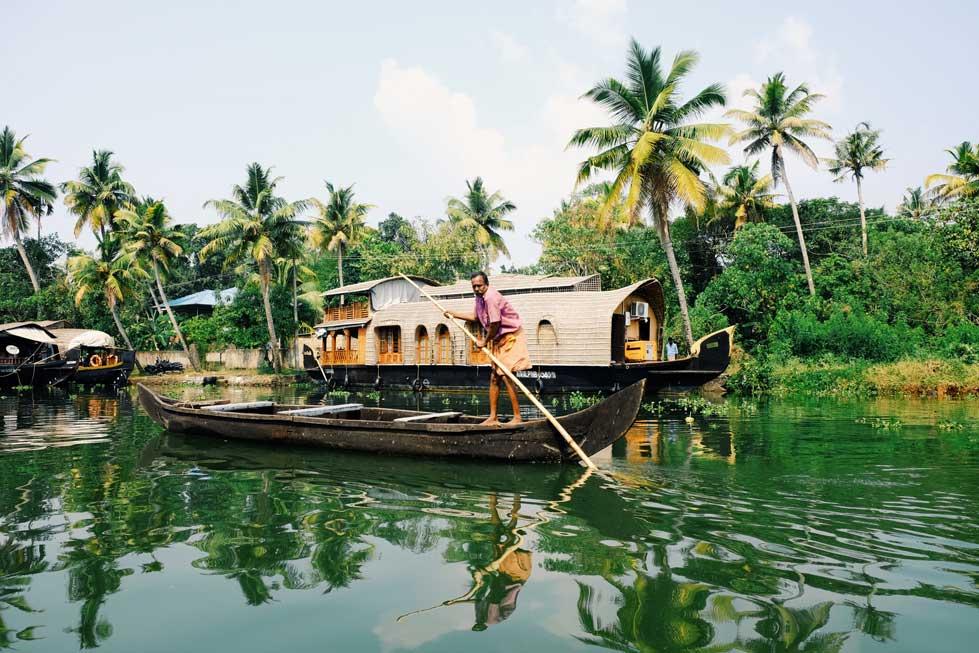 Le backwaters di Kerala